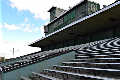 "Bleachers around Union County left to decay after failed negotiations between the  Weddington High School Football Team and Marching Warriors. The football team waited for the marching band to ""pick up the slack,"" but cut them after failed attempts."