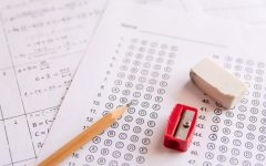 A state mandated math final about to be taken to prepare students for the next year of life. Unfortunately, those grades never helped the students as they went on to dropout of school and pick up jobs at the local McDonald's. Image from iStock.