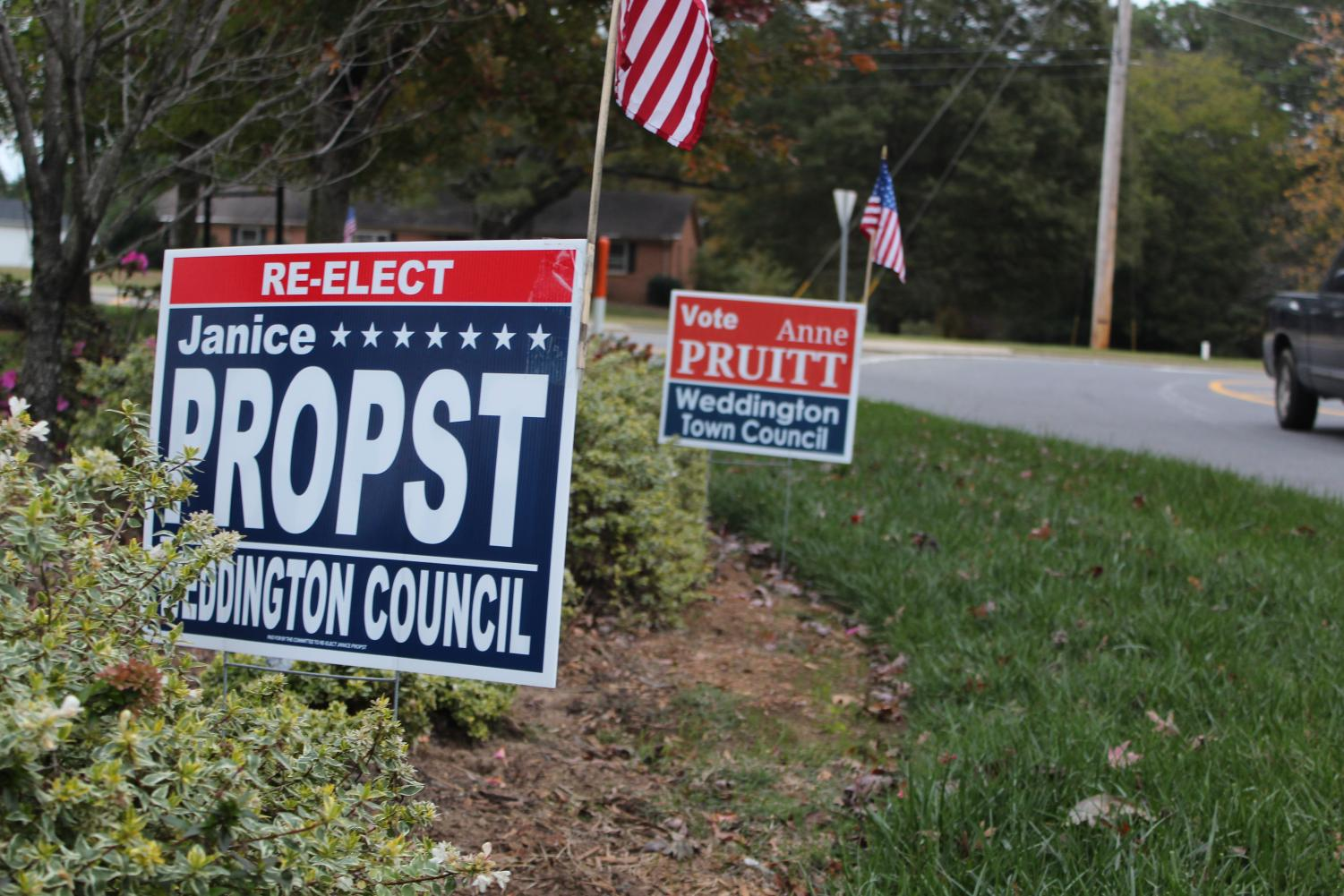 Janice Propst and Anne Puitt are both running for seats on Weddington's town council.