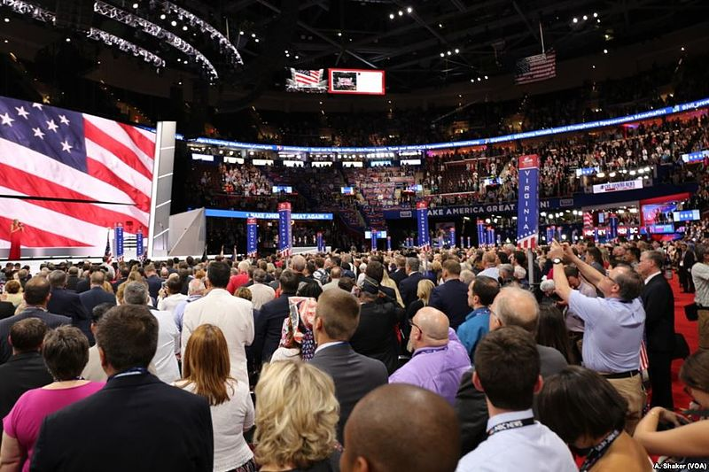 Delegates+at+the+2016+Republican+National+Convention+in+Cleveland%2C+Ohio.+Photo+created+and+provided+by+Voice+of+America.