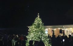 On Friday, November 22nd, the Town of Weddington hosted a tree lighting ceremony along with Weddington students singing Christmas songs.   Photo from the Town of Weddington Instagram page