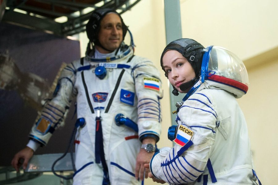 Actress Yulia Peresild said of her planned space flight, I am not afraid. Credit: Andrey Shelepin/Roscosmos, via Agence France-Presse — Getty Images